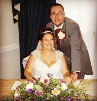 Matt and Myself on our wedding day