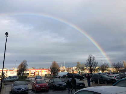 A beautiful rainbow as we came out of Nandos